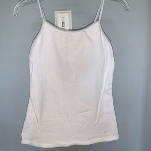 Solid white cami from justice size 10